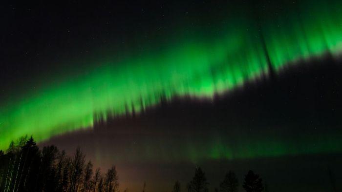 北極圏のオーロラ