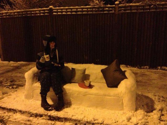 冬を全力で楽しむ人たちの写真