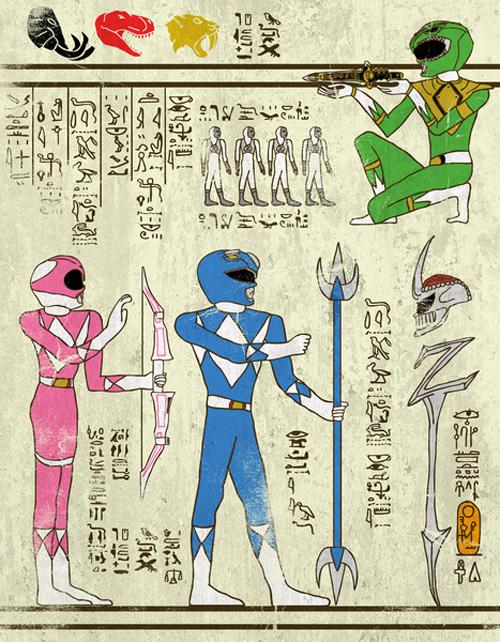 古代エジプト風で描いた映画キャラクターのイラスト写真