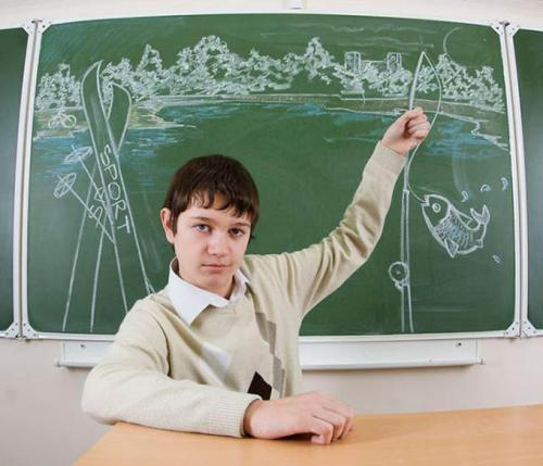 私たちの将来を黒板に描いた写真