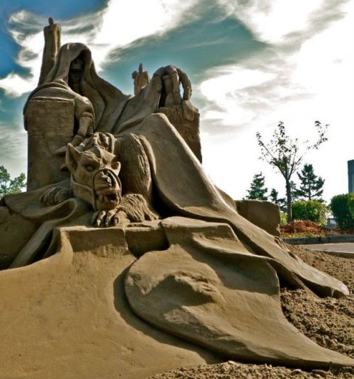 砂で作られたとは思えない驚きの砂アート作品
