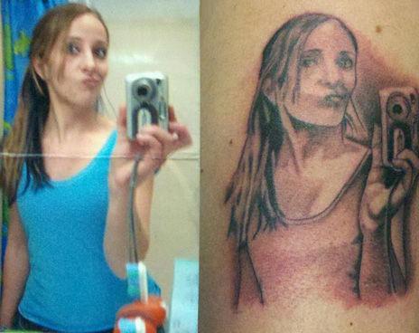タトゥー(刺青)が間違っていたかもしれないと思う写真