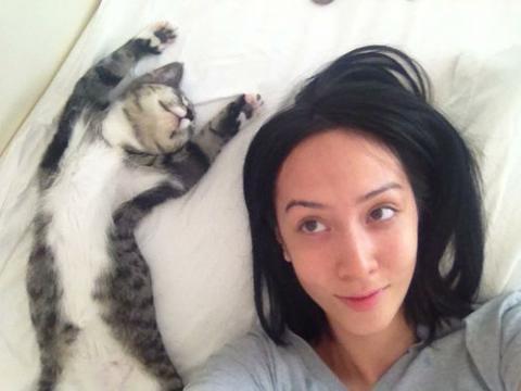 「猫がいて幸せを感じる瞬間」の写真